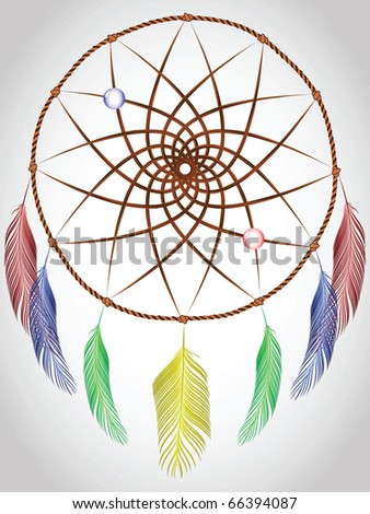 dream catcher, abstract art illustration; for vector format please visit my gallery