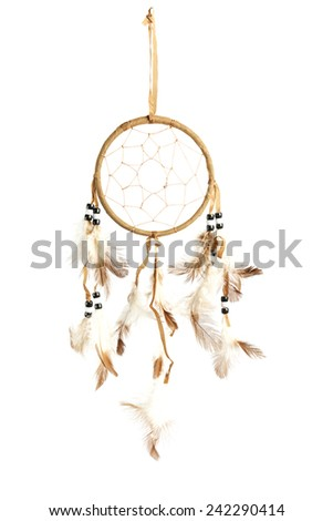 Dream catcher isolated on white - stock photo
