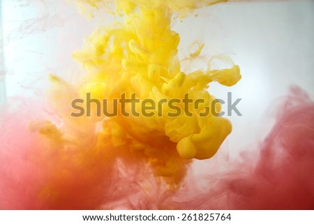 Dream Cloud of ink soft focus in water  - stock photo