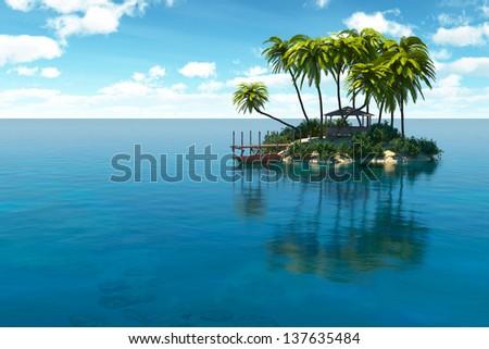 Dream island  - stock photo