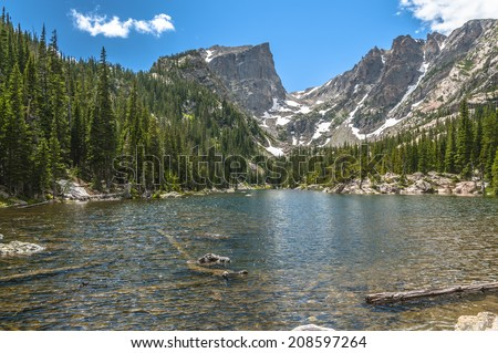 Dream Lake with Hallett Peak and Flattop Mountain-Rockies Colorado