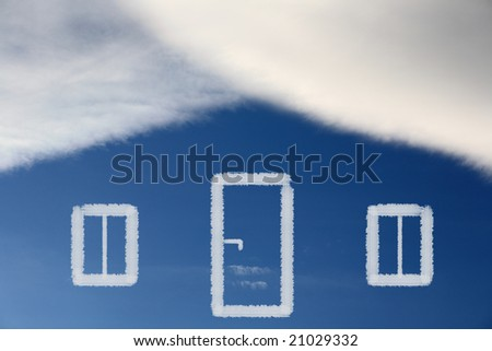 Dream of own house - stock photo