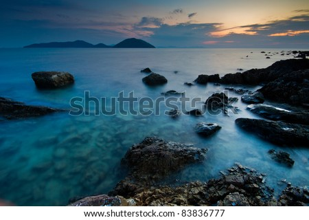 dream sea at ko samui in sunset time