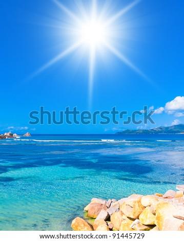 Dream Summertime Sunny Day - stock photo