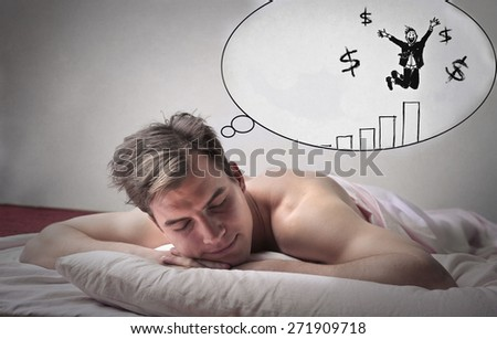 Dreaming of business  - stock photo