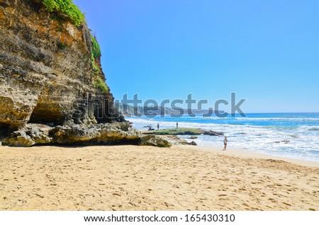 Dreamland beach in Bali - stock photo