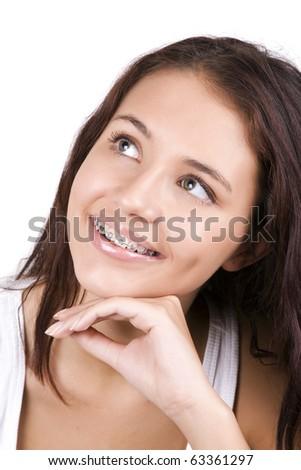 dreams of  beautiful teeth - stock photo