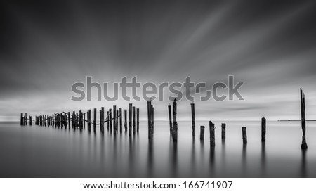 Dreams of Desolation: Fine Art seascape with a decayed pier