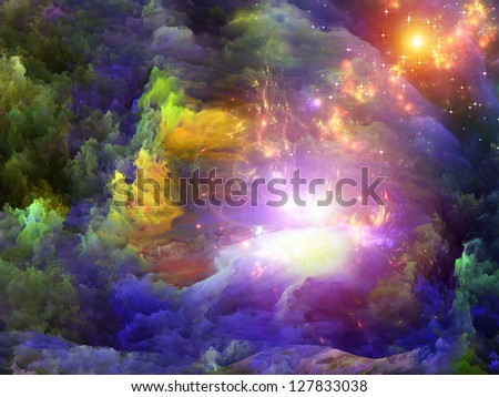 Dreamscape Series. Background design of colorful fractal paint and lights on the subject of art, abstraction and creativity - stock photo