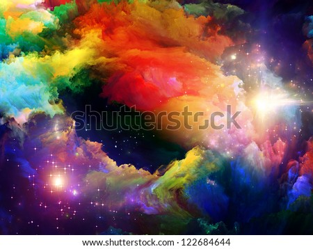 Dreamscape Series. Composition of colorful fractal paint and lights on the subject of art, abstraction and creativity - stock photo