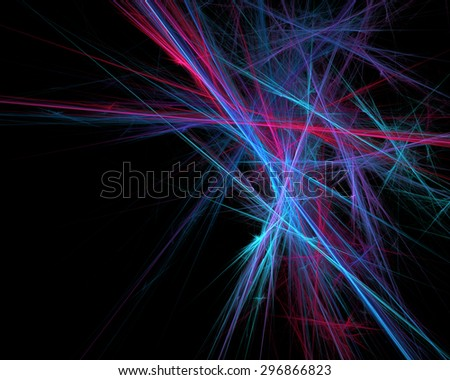 Dreamy blazing colorful lines. Fractal artwork for creative design.