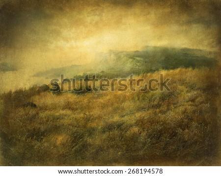 Dreamy landscape - stock photo