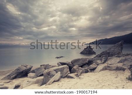 Dreamy Seascape - stock photo