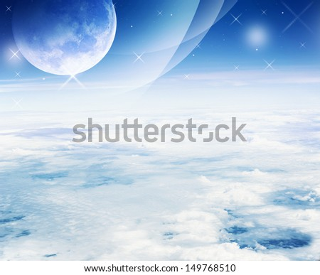 Dreamy sky - Fantasy background - stock photo