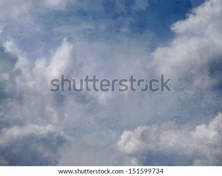 dreamy sky with clouds - stock photo