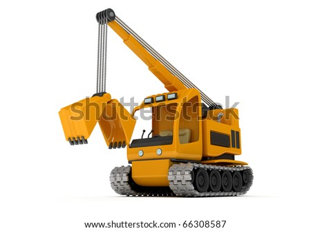 Dredge, Excavator, the car for earth digging