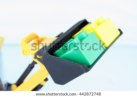Dredge toy with cubes. - stock photo