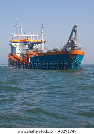 dredger Geopotes 14 Dredging at sea