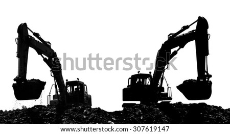 Dredges on a building site