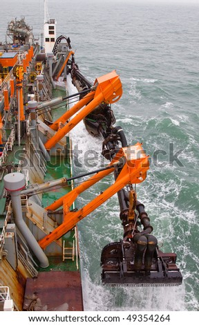 Dredging at sea