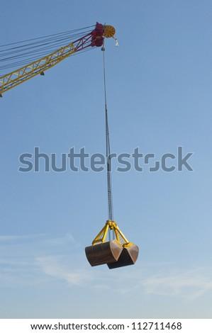 dredging bucket fot harbor - stock photo