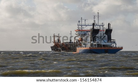 Dredging near an industrial area