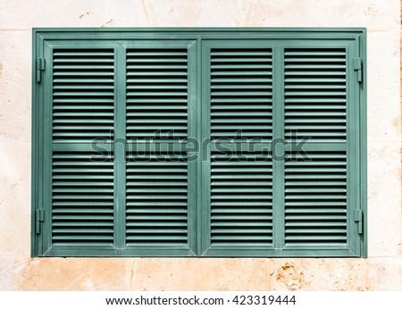 Dreen shutter on white background - stock photo