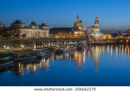 Dresden by Night - stock photo