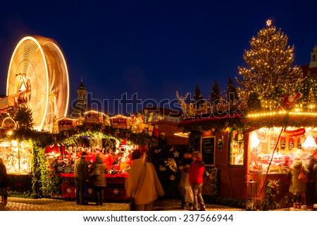 Dresden christmas market  - stock photo