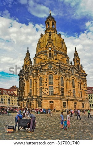 Dresden Church of Our Lady - stock photo