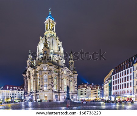 Dresden, Germany at Neumarkt Square. - stock photo