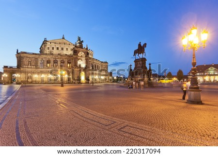 Dresden - Germany - At the Semper opera - stock photo