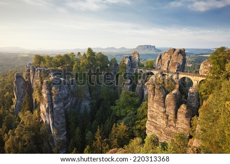 Dresden - Germany - Bastei - stock photo