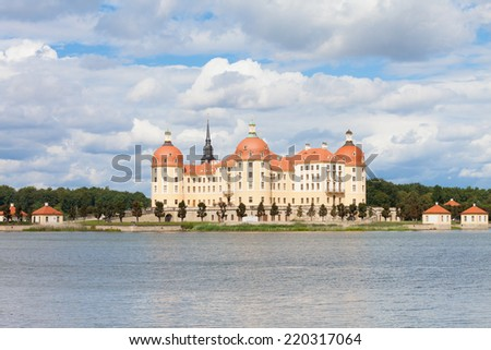 Dresden - Germany - Historic castle of Moritzburg - stock photo