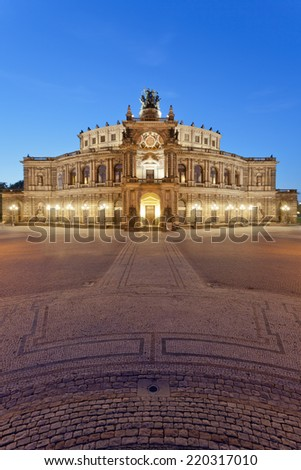 Dresden - Germany - In front of the semper opera - stock photo