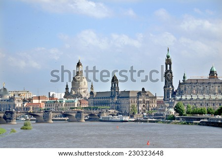 DRESDEN GERMANY-MAY 25:  Dresden is the capital city of the Free State of Saxony in Germany. on May 25, 2010 in Dresden. The city was destroyed in the firebombing during World War II.