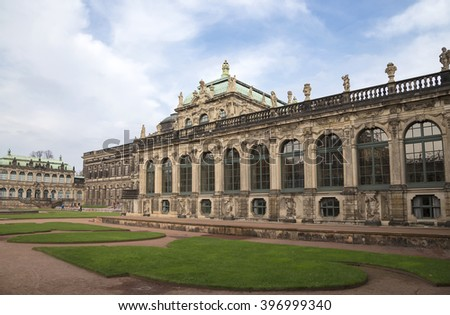 DRESDEN, GERMANY -  NOVEMBER 12, 2014: Zwinger Palace (Der Dresdner Zwinger) in Dresden, Germany
