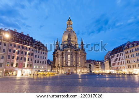 Dresden - Germany - Twilight - stock photo
