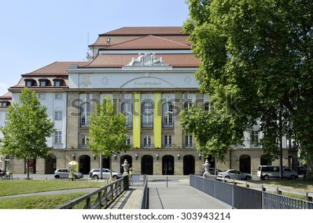Dresden, Saxony, Germany - July 24, 2015: The Schauspielhaus of Dresden in Germany.