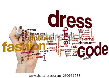 Dress code word cloud concept - stock photo