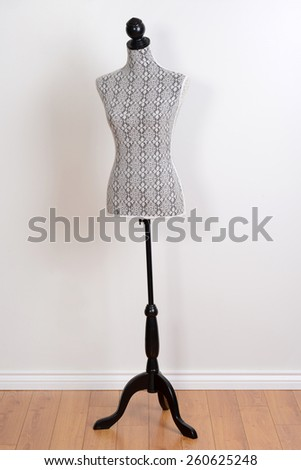 dress form on a stand - stock photo