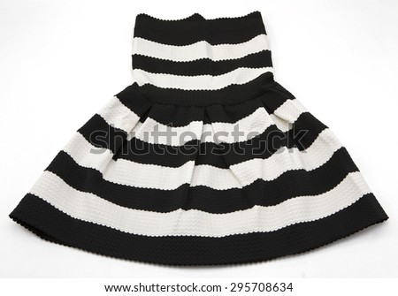 Dress in black and white stripes - stock photo