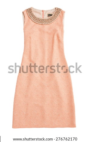 dress isolated on white - stock photo