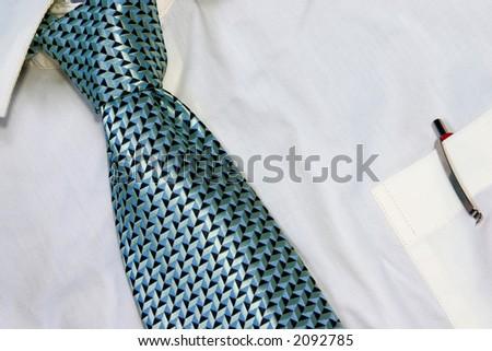 DRESS SHIRT AND TIE - stock photo
