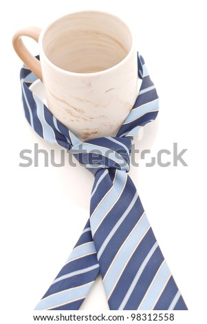 Dress Tie Around coffee Mug - stock photo