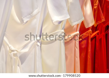 Dresses in a row  - stock photo