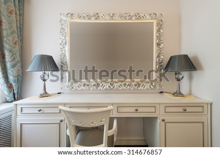 Dressing table stock images royalty free images vectors for Interior design bedroom dressing table