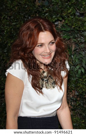 Drew Barrymore at a Benefit Dinner For The Natural Resources Defense Council's Ocean Initiative hosted by Chanel, Privaye Location, Malibu, CA. 06-04-11 - stock photo