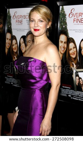 Drew Barrymore at the AFI FEST 2009 Screening of 'Everbody's Fine' held at the Grauman's Chinese Theatre in Hollywood on November 3, 2009.  - stock photo
