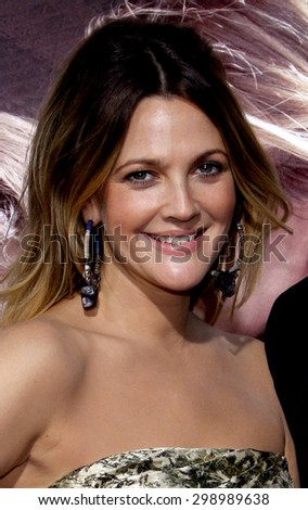 Drew Barrymore at the Los Angeles premiere of 'Going The Distance' held at the Grauman's Chinese Theater in Hollywood on August 23, 2010.   - stock photo